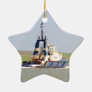 Tug Svitzer Mercia Double-Sided Star Ceramic Christmas Ornament