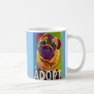 Tug the Pug ADOPT Mug by Ron Burns