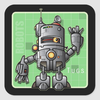 Tug the Robot Sticker