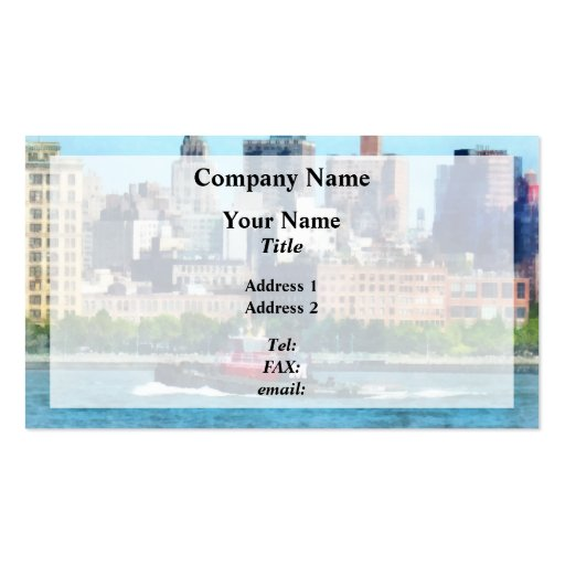 Tugboat Against Manhattan Skyline Double-Sided Standard Business Cards (Pack Of 100)