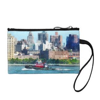 Tugboat Against Manhattan Skyline Coin Purse