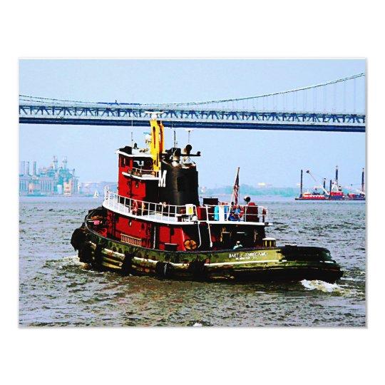 Tugboat at Penn's Land Philadelphia, PA Card