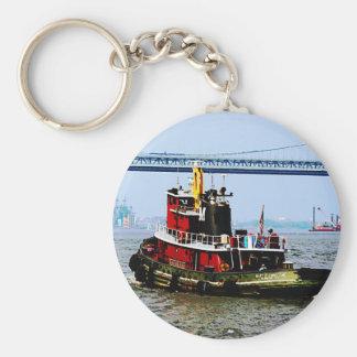 Tugboat at Penn's Land Philadelphia, PA Keychain
