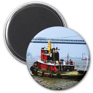 Tugboat at Penn's Land Philadelphia, PA Fridge Magnet