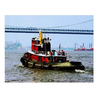 Tugboat at Penn's Land Philadelphia, PA Postcard