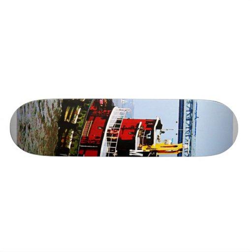 Tugboat at Penn's Landing Print Skateboard