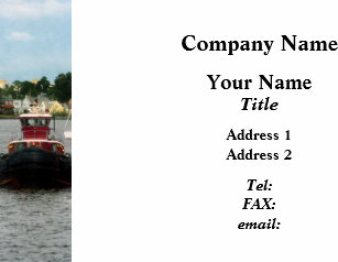 Tugboat business cards templates zazzle tugboat bow norfolk va platinum business card reheart Image collections
