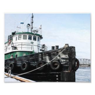 Tugboat in Icy Water of Sturgeon Bay Photo Print