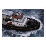 Tugboat in the Caribbean Print