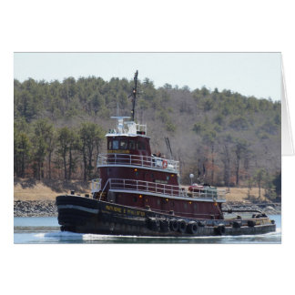 Tugboat Marjorie B McAllister Cape Cod Note Card