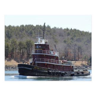 Tugboat Marjorie B McAllister on Cape Cod Postcard
