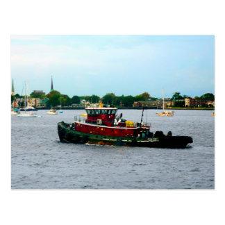 Tugboat Norfolk VA Postcard