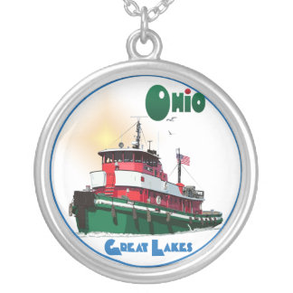 Tugboat Ohio Silver Plated Necklace
