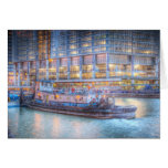 Tugboat on Chicago River Card