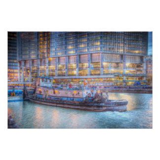 Tugboat on Chicago River Poster