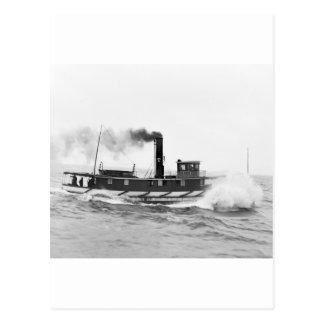 Tugboat William Sprague, late 1800s Postcard
