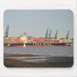 Tugs Assisting Ship Mouse Pad