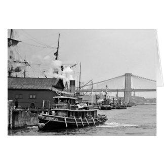 Tugs at Brooklyn Card