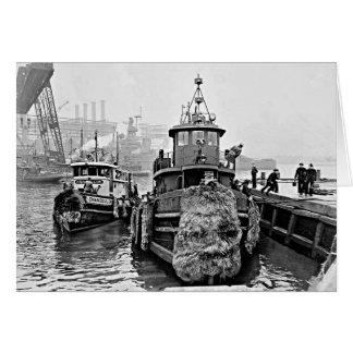 Tugs at Brooklyn Navy Yard Card