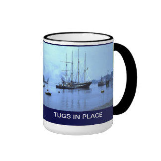 Tugs in place for TS Arethusa Ringer Coffee Mug