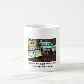 tugs in the harbor, Olympia2, tugs in the harbo... Coffee Mug