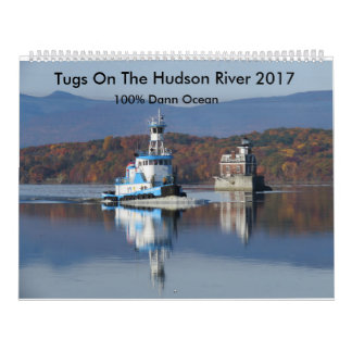 Tugs On The Hudson River 2017  100% Dann Ocean Calendar