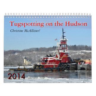 Tugspotting en el Hudson: Christine McAllister Calendario De Pared