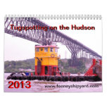 Tugspotting on the Hudson--Feeney Shipyard Wall Calendar