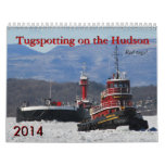 Tugspotting on the Hudson: Red tugs! Wall Calendars
