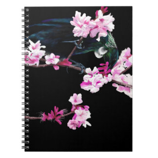 Tui Bird and Cherry Blossom Notebook