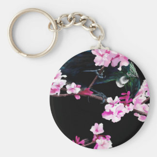 Tui en la flor de cerezo rosada llavero redondo tipo pin