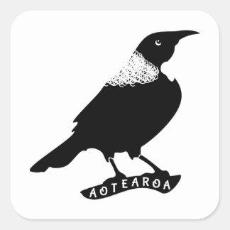 Tui New Zealand Aotearoa Square Sticker