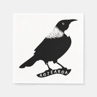 Tui   New Zealand Native Bird Paper Napkin
