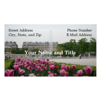 Tuileries Garden in bloom Double-Sided Standard Business Cards (Pack Of 100)