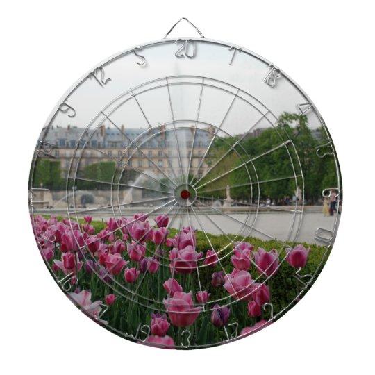 Tuileries Garden in bloom Dartboard