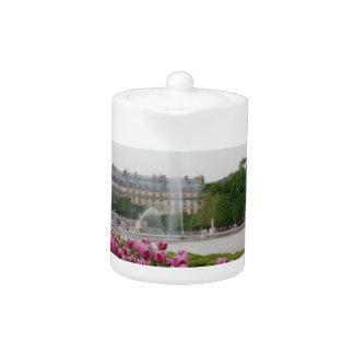 Tuileries Garden in bloom Teapot