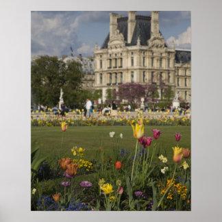 Tuileries Garden, Louvre, Paris, France Poster