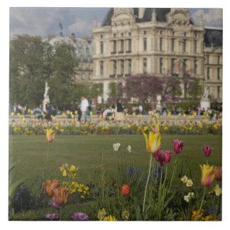 Tuileries Garden, Louvre, Paris, France Large Square Tile