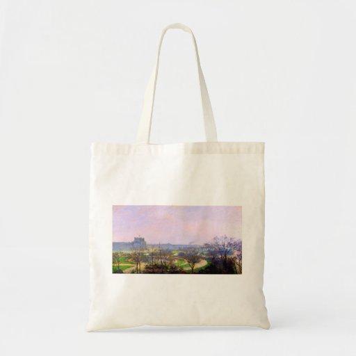 Tuileries Gardens in Paris art by Camille Pissarro Bag