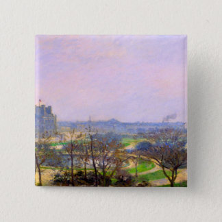 Tuileries Gardens in Paris art by Camille Pissarro Button