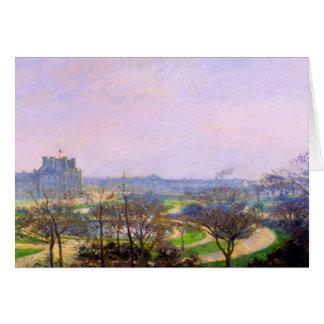 Tuileries Gardens in Paris art by Camille Pissarro Card