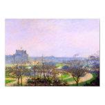 Tuileries Gardens in Paris art by Camille Pissarro 5x7 Paper Invitation Card