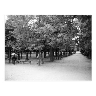 Tuileries - paisaje bucólico postales