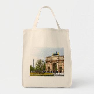 Tuileries Paris Impressionist painting Apron Tote Bag