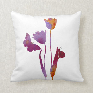 Tuilps Throw Pillow