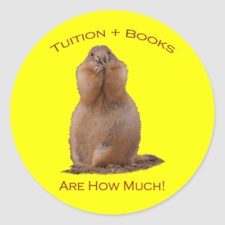 Tuition & Books Are How Much Classic Round Sticker