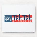 Tuk Tuk del logotipo de América Alfombrilla De Ratón