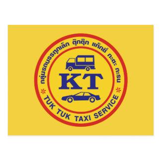 Tuk Tuk Taxi Service Sign, Thailand Postcard