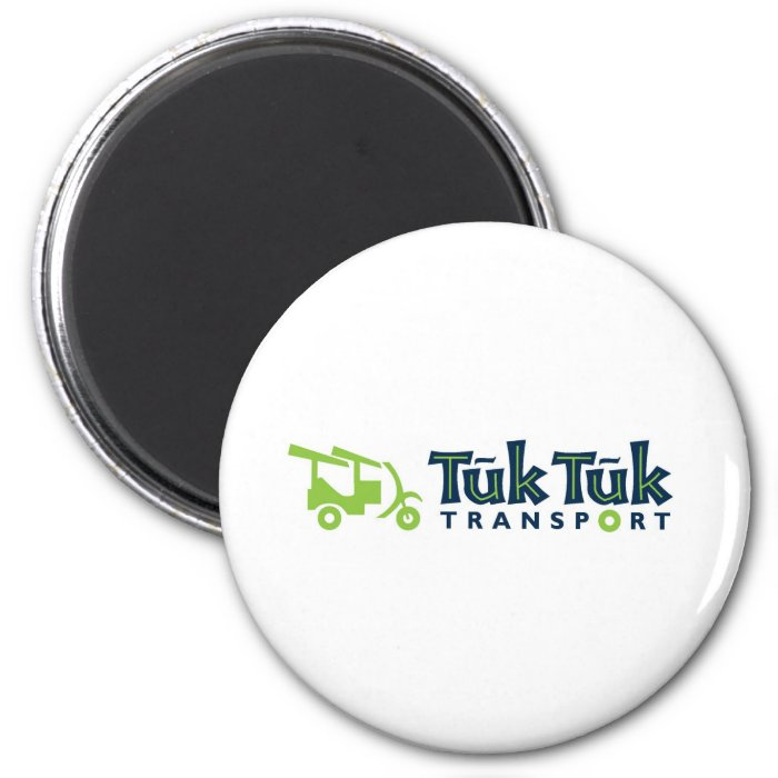 Tuk Tuk Transport 2 Inch Round Magnet