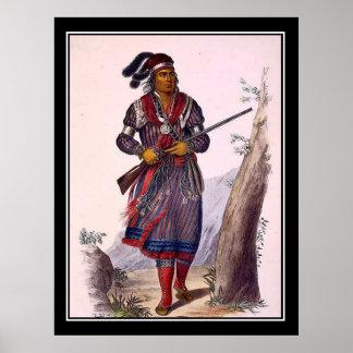 Tuko-See-Mathla Seminole Chief Vintage Poster Posters